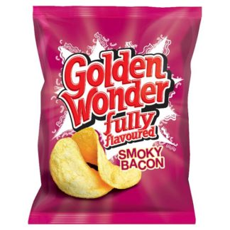 Golden Wonder Fully Flavoured Smoky Bacon 32.5g (Case of 32)