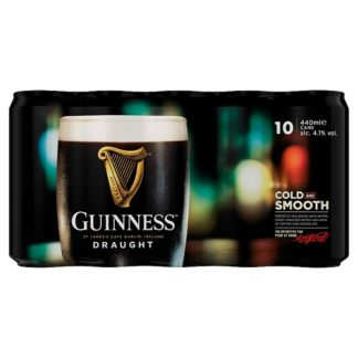 Guinness Draught Stout Beer 10 x 440ml Can (Case of 3)
