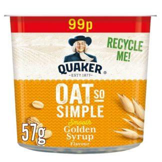 Quaker Oat So Simple Golden Syrup Porridge Pot 99p RRP PMP 57g (Case of 8)