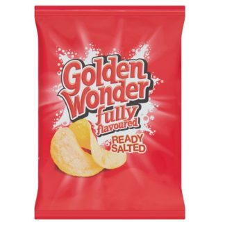 Golden Wonder Fully Flavoured Ready Salted 32.5g (Case of 32)