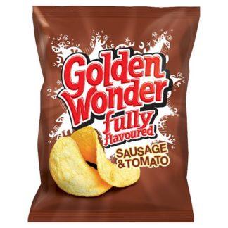 Golden Wonder Fully Flavoured Sausage & Tomato 32.5g (Case of 32)