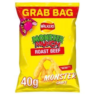 Walkers Monster Munch Roast Beef Snacks 40g (Case of 30)