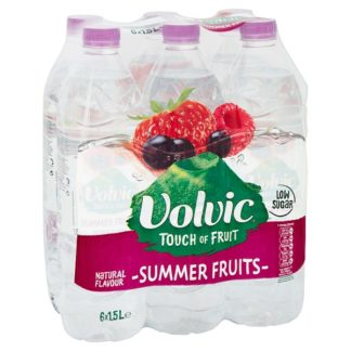 Volvic Touch of Fruit Low Sugar Summer Fruits Natural Flavoured Water 6 x 1.5L (Case of 6)