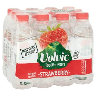 Volvic Touch of Fruit Low Sugar Strawberry Natural Flavoured Water 12 x 500ml (Case of 12)