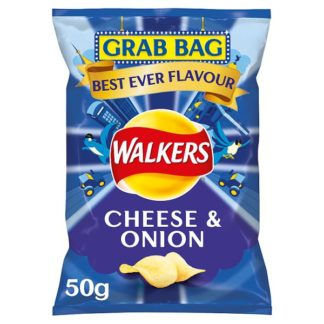 Walkers Cheese & Onion Grab Bag Crisps 50g (Case of 32)