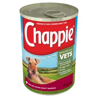 Chappie Wet Dog Food Tin Original in Loaf 412g (Case of 12)