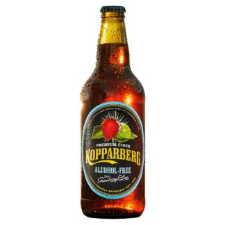 Kopparberg Alcohol-Free Premium Cider with Strawberry & Lime 500ml (Case of 8)