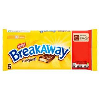 Breakaway Milk Chocolate Biscuit Bar Multipack 6 Pack PMP £1 (Case of 14)