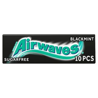 Airwaves Black Mint Sugar Free Chewing Gum 10 Pieces (Case of 30)