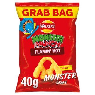 Walkers Monster Munch Flamin' Hot Snacks 40g (Case of 30)