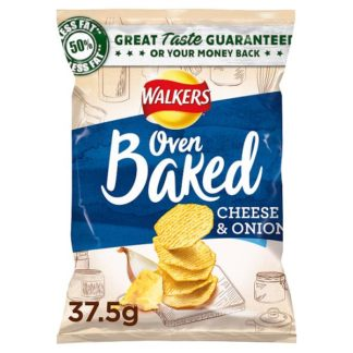 Walkers Baked Cheese & Onion Snack 37.5g (Case of 32)