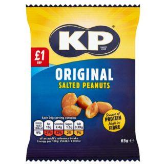 KP Original Salted Peanuts 65g (Case of 12)