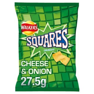 Walkers Squares Cheese & Onion Snacks 27.5g (Case of 32)