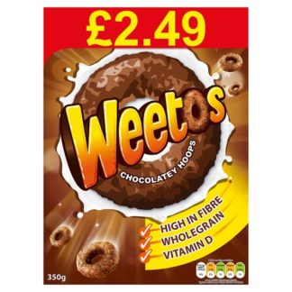 Weetos Chocolate Hoops Case 8 x 350g PMP £2.49 (Case of 8)
