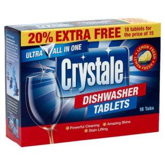 Crystale 18 Dishwasher Tablets (Case of 7)