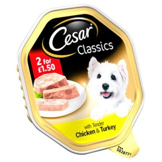Cesar Classics Wet Dog Food Tray with Tender Chicken & Turkey in Loaf 150g (Case of 14)