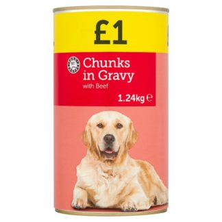 Euro Shopper Chunks in Gravy with Beef 1.24kg (Case of 6)