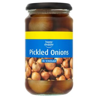 Happy Shopper Pickled Onions in Vinegar 440g (Drained Weight 225g) (Case of 6)