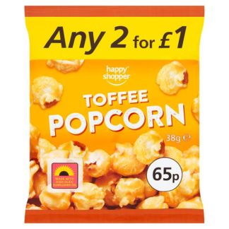 Happy Shopper Toffee Popcorn 38g (Case of 16)