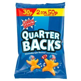 Golden Wonder Quarter Backs Cheeseburger Flavour Corn Snacks 25g (Case of 36)