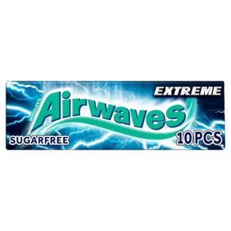 Airwaves Extreme Sugar Free Chewing Gum 10 Pieces (Case of 30)