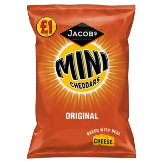Jacob's Mini Cheddars Original Cheese Snacks 105g (Case of 12)