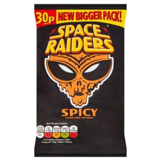Space Raiders Spicy Crisps 25g 30p PMP (Case of 36)