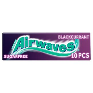 Airwaves Blackcurrant Chewing Gum Sugar Free 10 Pieces (Case of 30)