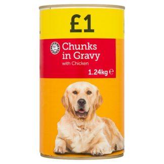 Euro Shopper Chunks in Gravy with Chicken 1.24kg (Case of 6)