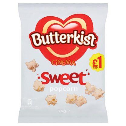 Butterkist Cinema Sweet Popcorn 76g £1 PMP (Case of 12)