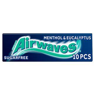 Airwaves Menthol & Eucalyptus Sugar Free Chewing Gum 10 Pieces (Case of 30)