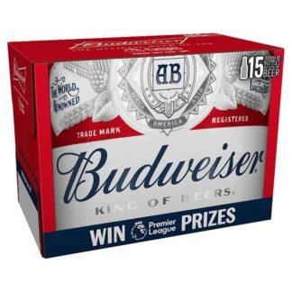 Budweiser King of Beers Lager Beer 15 x 300ml