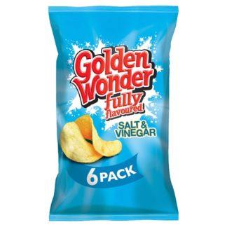 Golden Wonder Fully Flavoured Salt & Vinegar 6 x 25g (Case of 16)