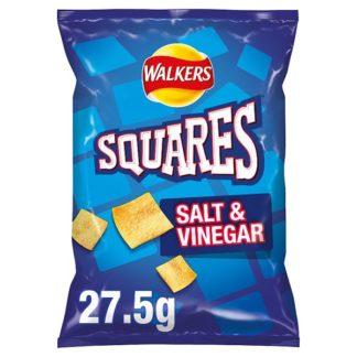 Walkers Squares Salt & Vinegar Snacks 27.5g (Case of 32)