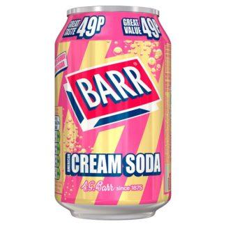Barr American Cream Soda 330ml Can, PMP 49p (Case of 24)