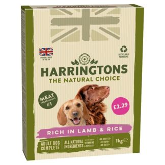 Harringtons Rich in Lamb & Rice Complete Dry Adult Dog Food 1kg (Case of 5)