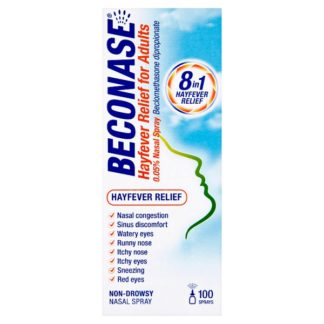 Beconase Hayfever Relief for Adults 0.05% Nasal Spray (Case of 6)