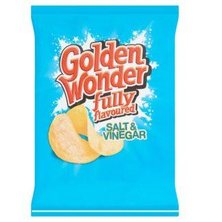 Golden Wonder Fully Flavoured Salt & Vinegar 32.5g (Case of 32)
