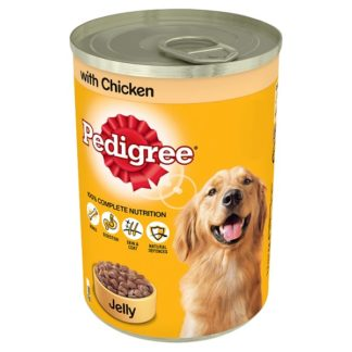 Pedigree Wet Dog Food Tin with Chicken in Jelly 385g (Case of 12)