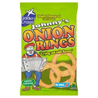 Golden Cross Johnny's Onion Rings Onion Flavoured Corn Snacks 22g (Case of 36)