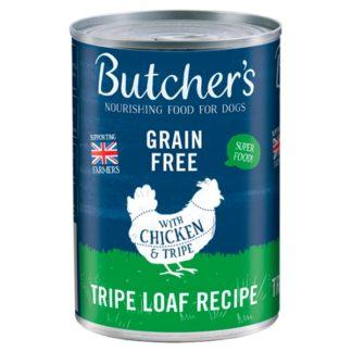 Butcher's Chicken & Tripe Loaf Recipe Dog Food Tin 400g (Case of 12)