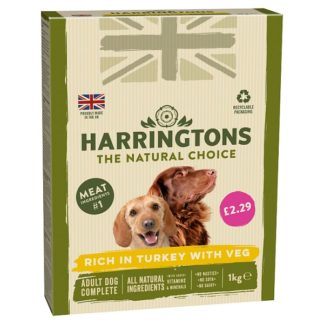 Harringtons Rich in Turkey with Veg Complete Dry Adult Dog Food 1kg (Case of 5)