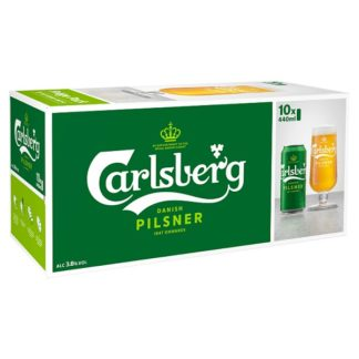 Carlsberg Lager Beer 10 x 440ml (Case of 2)