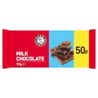 Euro Shopper Milk Chocolate 90g (Case of 26)