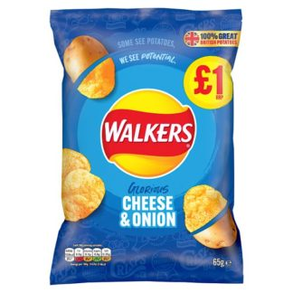 Walkers Cheese & Onion Crisps £1 PMP 65g (Case of 15)