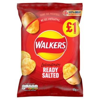 Walkers Ready Salted Crisps £1 PMP 65g (Case of 15)