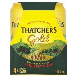 Thatchers Gold Cider 4 x 500ml (Case of 6)