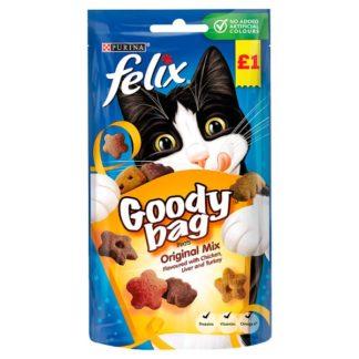 Felix Goody Bag Cat Treats Original Mix 60g (Case of 8)