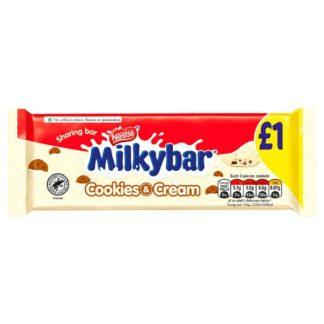 Milkybar Cookies and Cream White Chocolate Sharing Bar 90g PMP £1
