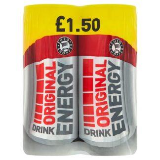 Euro Shopper Original Energy Drink 4 x 250ml (Case of 6)